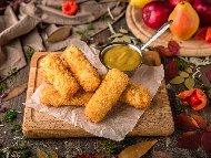 Рецепта Панирани сиренца / хапки моцарела / кашкавалчета без мазнина в еър фрайър / фритюрник с горещ въздух